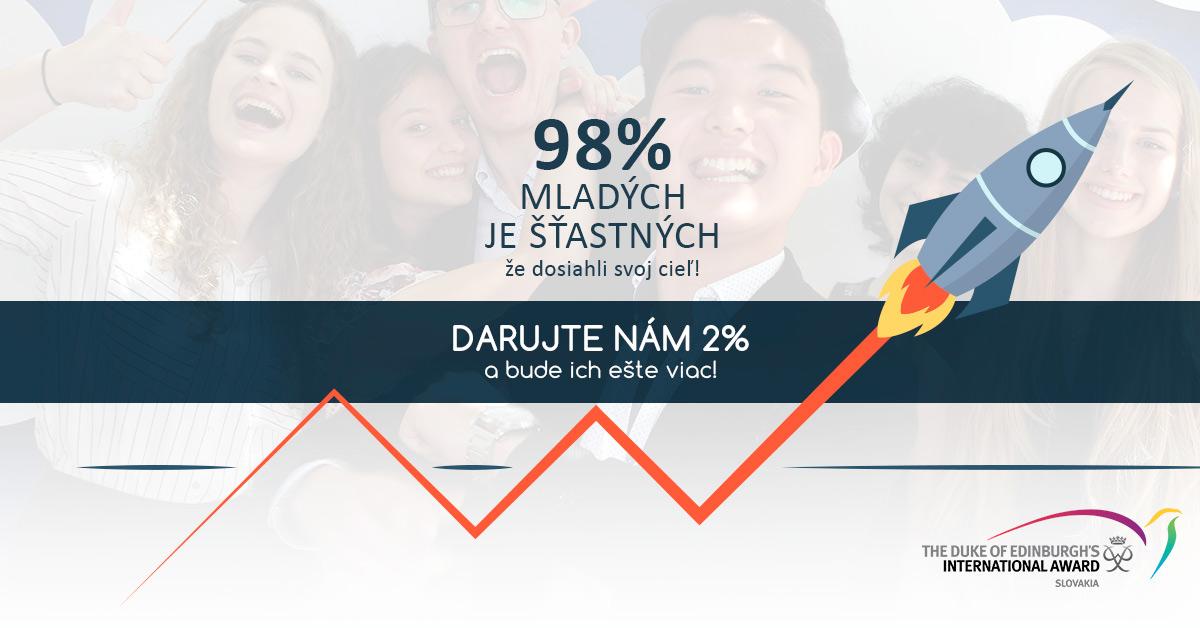 Darujte DofE 2% z dane